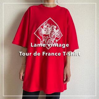 サンタモニカ(Santa Monica)の90s 古着 ツールドフランス プリントTシャツ USA製 ビンテージ(Tシャツ/カットソー(半袖/袖なし))