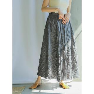 セレクト(SELECT)のselect MOCA【公式サイト限定】ワッシャープリーツスカート チャコール(ロングスカート)
