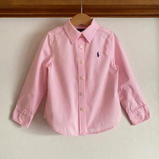 ラルフローレン(Ralph Lauren)のラルフローレン シャツ 100 長袖 ピンク ブラウス ストレッチ(ブラウス)
