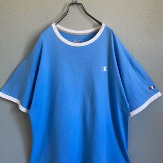 チャンピオン(Champion)の90s チャンピオン リンガー Tシャツ 刺繍ロゴ XL ゆるだぼ(Tシャツ(半袖/袖なし))