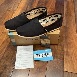 トムズ(TOMS)のTOMS Classic Black Canvas 26.5cm(スリッポン/モカシン)