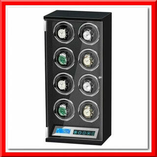 ワインディングマシーン 静音(8本巻き)腕時計用ケース 縦型 LEDライト付き