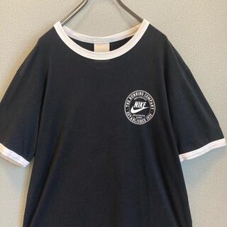 ナイキ(NIKE)の90s NIKE リンガー Tシャツ 黒×白 ゆるだぼ vintage(Tシャツ(半袖/袖なし))