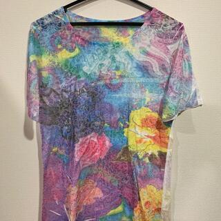 【未使用】 綺麗な総柄デザイン 柔らかなカットソーTシャツ(Tシャツ(半袖/袖なし))