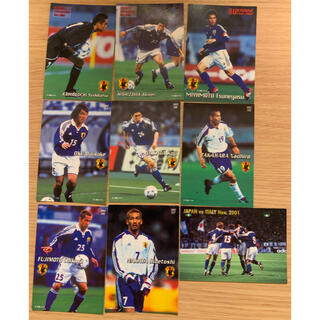 カルビー(カルビー)のサッカー 日本代表チップス カード 2002年 一式(スポーツ選手)