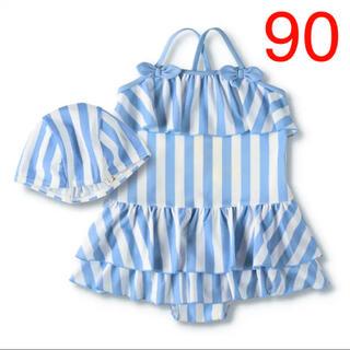ブランシェス(Branshes)のNO.910 ブランシェス 水着 スイムキャップ付き 女の子 90(水着)