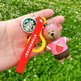Starbucks Coffee - 海外 スターバックス ベアリスタ くま キーホルダー ストラップ 韓国 かわいい