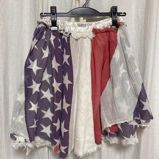 ゴートゥーハリウッド(GO TO HOLLYWOOD)のgo2 hollywood パッチワークアメリカ柄スカート(ひざ丈スカート)