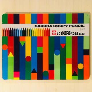 サクラ(SACRA)のサクラクーピーペンシル 60色 使用少なめ 蛍光色入り(クレヨン/パステル)