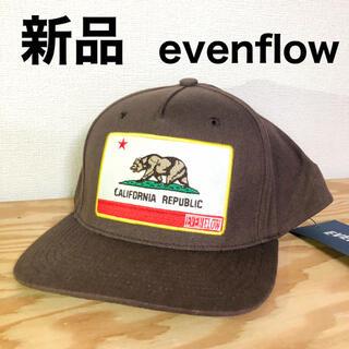 イーブンフロー(evenflo)の新品 evenflow イーブンフロー キャップ ブラウン ワッペン(キャップ)