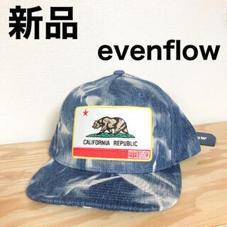 イーブンフロー(evenflo)の新品 evenflow イーブンフロー キャップ デニム ワッペン(キャップ)