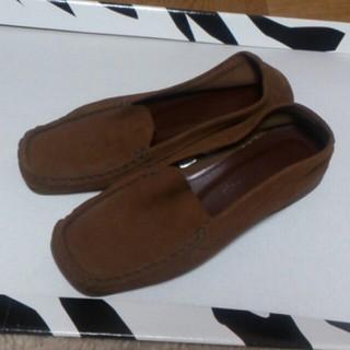 起毛 ブラウンシューズ(ローファー/革靴)