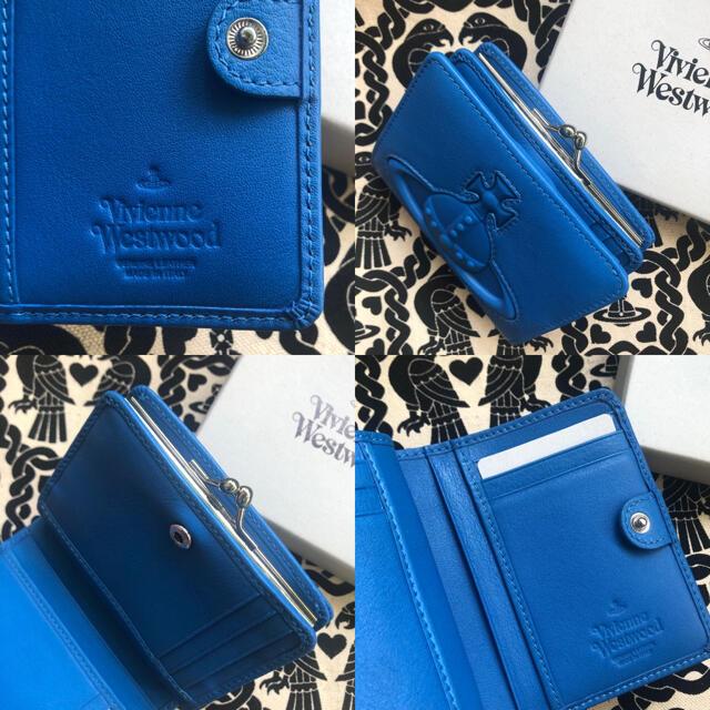Vivienne Westwood(ヴィヴィアンウエストウッド)の新品 Vivienne 折りたたみ財布 オーブ型押し ブルー メンズのファッション小物(折り財布)の商品写真