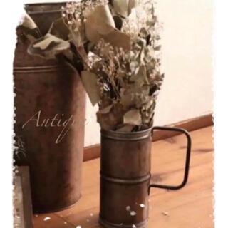 アンティーク加工 ブリキ ピッチャー 花瓶☆*°インダストリアル(花瓶)