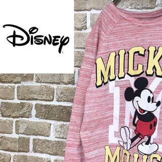 ディズニー(Disney)の【ディズニー】ミッキーマウスラグラン長袖Tシャツ ロンT 霜降り キャラT(Tシャツ(長袖/七分))