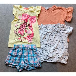 サンカンシオン(3can4on)の110cmサイズ 女の子 夏服 4点セット(Tシャツ/カットソー)