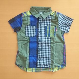 ブリーズ(BREEZE)の【BREEZE】新品・未着用 半袖チェック柄シャツ 110(ブラウス)