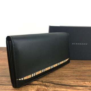 バーバリー(BURBERRY)の未使用品 BURBERRY 二つ折り長財布 ブラック バーバリー 450(長財布)