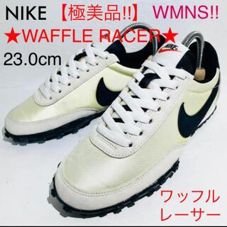 ナイキ(NIKE)のNIKE/ナイキ★WAFFLE RACER/ワッフルレーサー★生成り★23.0(スニーカー)
