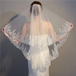 ウエディングベールキラキラベール(ヘッドドレス/ドレス)