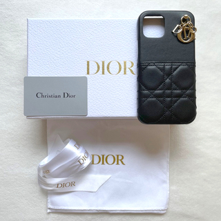 クリスチャンディオール(Christian Dior)のLADY DIOR IPHONE 12 & 12 PROケース ブラック(iPhoneケース)