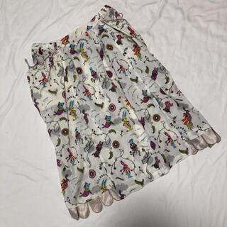 アルベロ(ALBERO)のアルベロベロ 総柄 ロゴ 膝丈スカート 未使用(ひざ丈スカート)