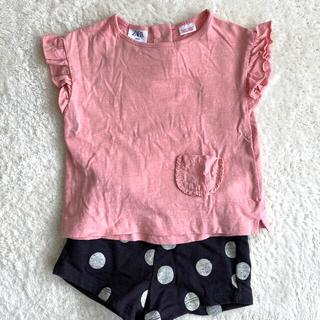 ザラキッズ(ZARA KIDS)のZARA ピンクTシャツ(Tシャツ)