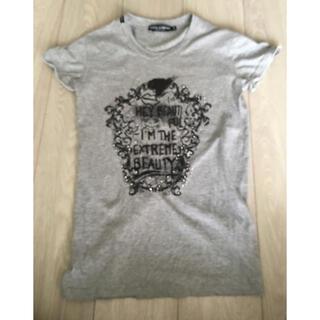 ドルチェアンドガッバーナ(DOLCE&GABBANA)の♡ドルチェ&ガッパーナ♡ビジュTシャツ♡レディース♡グレー♡込み(Tシャツ(半袖/袖なし))