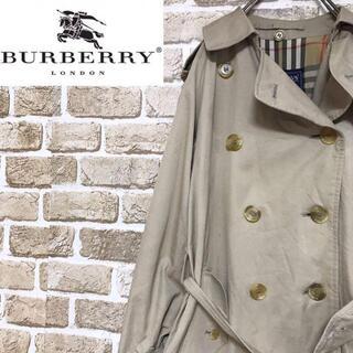 バーバリー(BURBERRY)の【バーバリー】希少 一枚袖イングランド製70〜80sトレンチコート ノバチェック(トレンチコート)