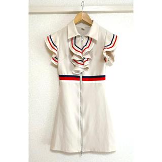 アンディ(Andy)のトリコロール フレンチ ミニワンピース ドレス 韓国ファッション(ミニワンピース)