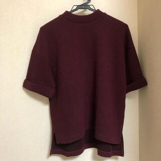 テチチ(Techichi)の♡Techichi♡ ボルドー 半袖ニット(Tシャツ(半袖/袖なし))