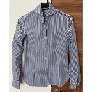 INED - INED イネド ストライプ コットンシャツ