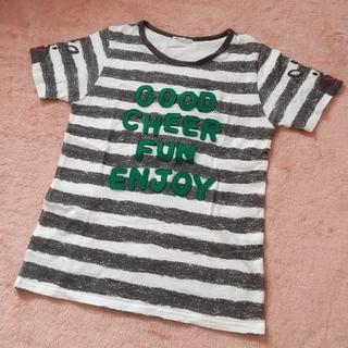 ラフ(rough)のラフ 袖が牛柄のボーダーTシャツ(Tシャツ(半袖/袖なし))