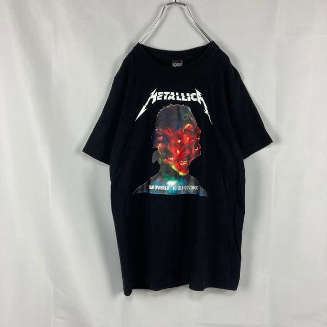 AGAINST(アゲインスト)の☆両面プリント☆メタリカ☆バンT☆バンドTシャツ☆ブラック☆ヘビメタ メンズのトップス(Tシャツ/カットソー(半袖/袖なし))の商品写真