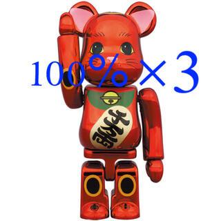 メディコムトイ(MEDICOM TOY)のBE@RBRICK 招き猫 梅金メッキ 100%(キャラクターグッズ)
