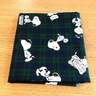 スヌーピー(SNOOPY)のスヌーピー タータンチェック オックス生地 巾108×50cm(生地/糸)