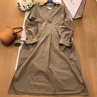 アクアガール(aquagirl)のアクアガール お袖リボンの長袖ワンピース (ロングワンピース/マキシワンピース)
