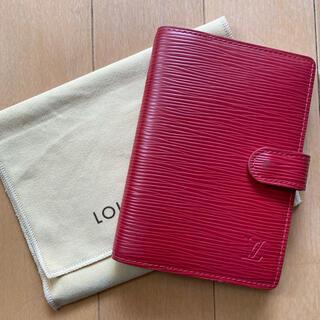 ルイヴィトン(LOUIS VUITTON)のルイヴィトン エピ 手帳カバー 赤(手帳)