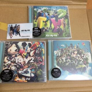 キスマイフットツー(Kis-My-Ft2)の新品未開封キスマイTo-y2初回盤A初回盤B通常盤、特典カード付き(ポップス/ロック(邦楽))