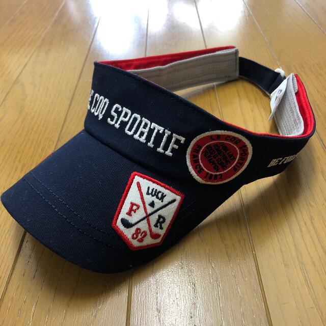 le coq sportif(ルコックスポルティフ)のLE COQ SPORTIF サンバイザー ゴルフ メンズの帽子(サンバイザー)の商品写真