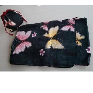 ユニクロ(UNIQLO)のUNIQLO ユニクロ浴衣と巾着のセット(浴衣)