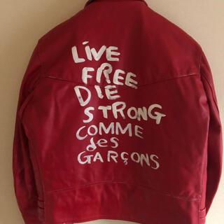 コムデギャルソン(COMME des GARCONS)のportersin様専用 コムデギャルソン青山店限定ルイスレザー赤44新品未使用(ライダースジャケット)