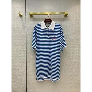Gucci - グッチ 【21SS】新作 ストライプ コットン ジャージー ドレス