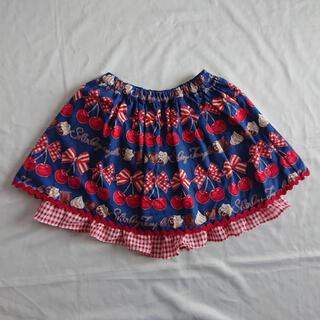 シャーリーテンプル(Shirley Temple)のシャーリーテンプル2019ssチェリーチョコptキュロットスカート140ネイビー(パンツ/スパッツ)