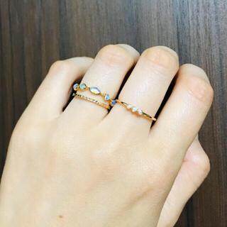 ココシュニック(COCOSHNIK)のリング★美品 ダイヤモンド トリロジー k10 YG 3P フクリン k18 (リング(指輪))