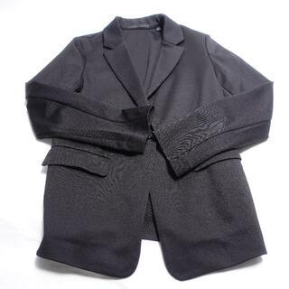 ユニクロ(UNIQLO)のUNIQLO ジャケット レディース ブラック(ノーカラージャケット)