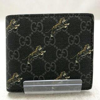 Gucci - ✨販売証明書あり✨GUCCI GGプラス タイガー 折り財布