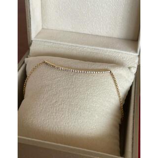 ポンテヴェキオ(PonteVecchio)の極美品 ポンテヴェキオ ダイヤ バー ブレスレット スマイル 0.22ct(ブレスレット/バングル)