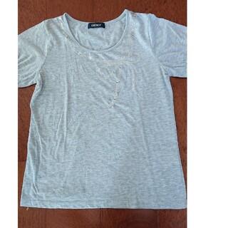 イーストボーイ(EASTBOY)のグレー スパンコール飾りTシャツ(Tシャツ(半袖/袖なし))