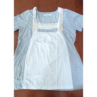エスティークローゼット(s.t.closet)のグレー×白Tシャツ (Tシャツ(半袖/袖なし))